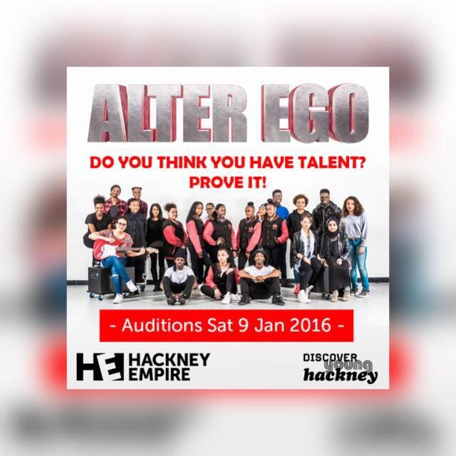 Catch us tonight at Hackney Empire #AlterEgo.. Its going to be an amazing show, cant wait to see you there