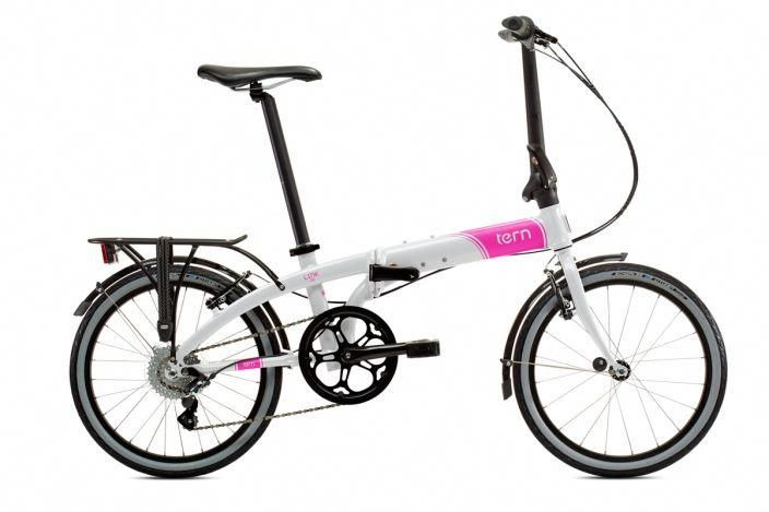 Link D8 White Pink Tern Folding Bicycles Coolbikeaccessories Folding Bike Folding Bicycle Bicycle