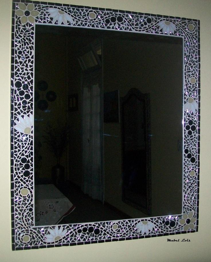 Espejo de dise o con venecitas espejos mosaiquismo http - Espejos con diseno ...