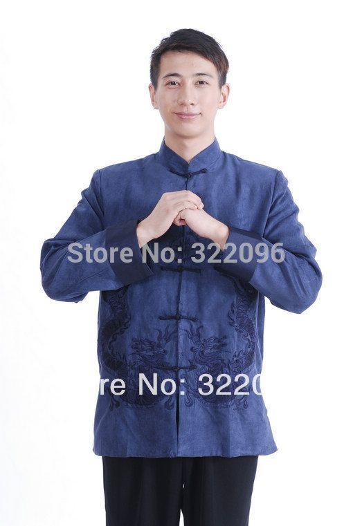 Shanghai Story Dragon Suede Jacket Chinese Traditional Jacket Tang Suit Mandarin Collar M1150