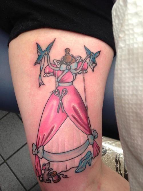 cinderella party cinderella tattoos tattoo disney cartoon tattoos ...