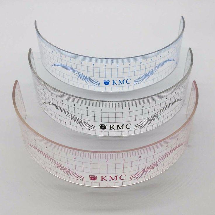 1 pz Stencil di Plastica Permanente di Trucco Del Sopracciglio Righello KMC Tatuaggio Cosmetico Strumento di Formazione Per Il Beginers