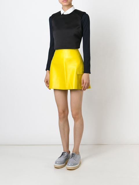 Msgm Patch Pocket Faux Leather Skirt - Wellens Women - Farfetch.com