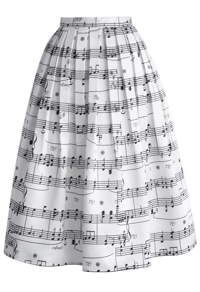 This one's for music lovers, indeed. With classic sheet music covering the entire skirt, you're sure to keep everyone whistling as you walk by while the flirty hemline catches the light breeze. Take this lovely skirt to even higher notes with the perfect top, clutch and heels for a look that's perfectly suited for a night of dancing and flirtatious giggles!  - Side zip closure with hook - Gentle pleats from waist - Full lined - 100% Polyester - Machine washable   Size(cm) Length ...
