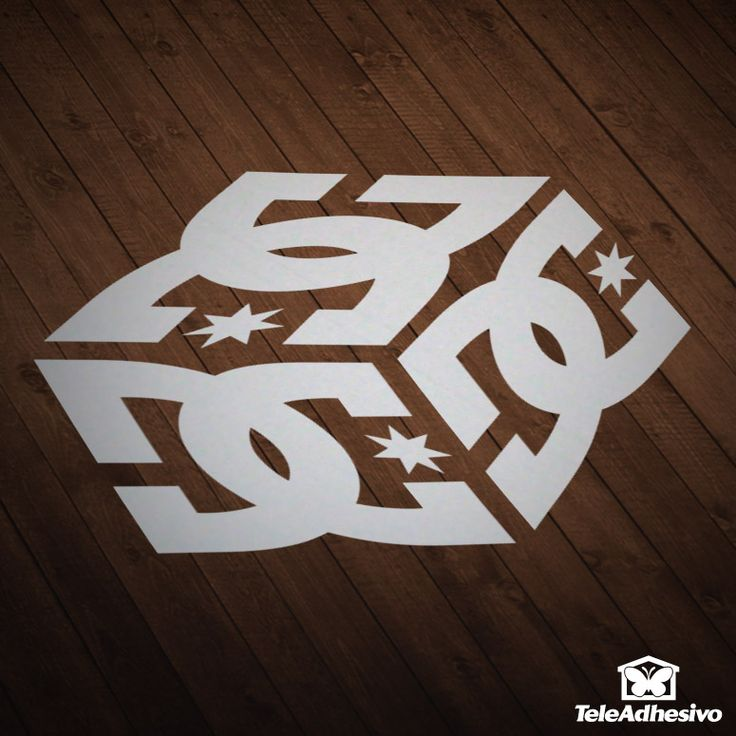 Car and motorbike stickers dc shoes cube
