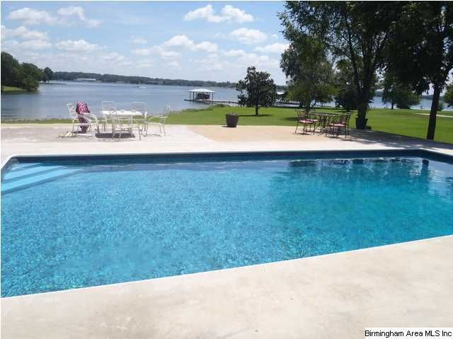 backyard of dream home 8ft deep pool with diving board and lakeview boat launch and pier with. Black Bedroom Furniture Sets. Home Design Ideas