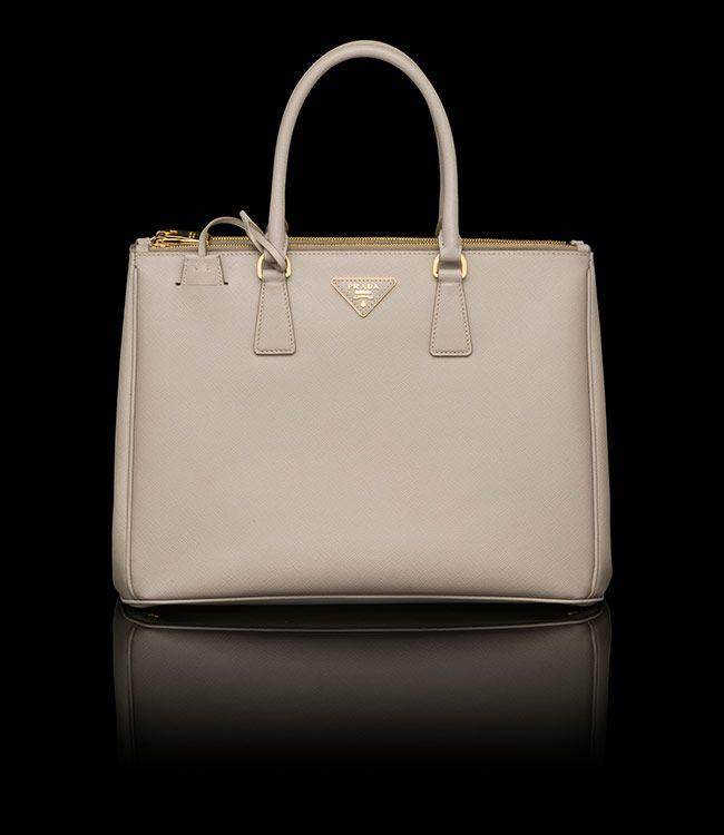 Prada Saffiano Lux Tote Double Zip Pale Grey $2380 DREAM BAG ...