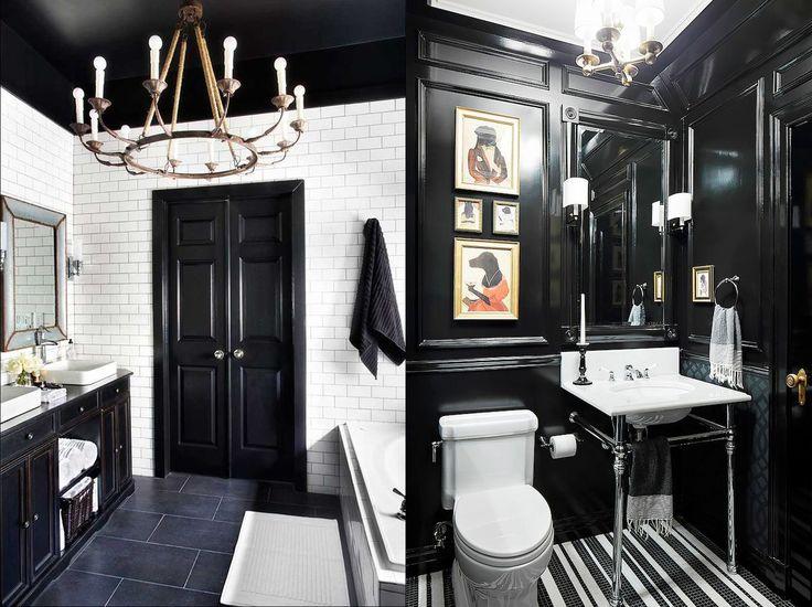 17 ideas para decorar tu baño con colores oscuros en tu siguiente proyecto decorativo en casa
