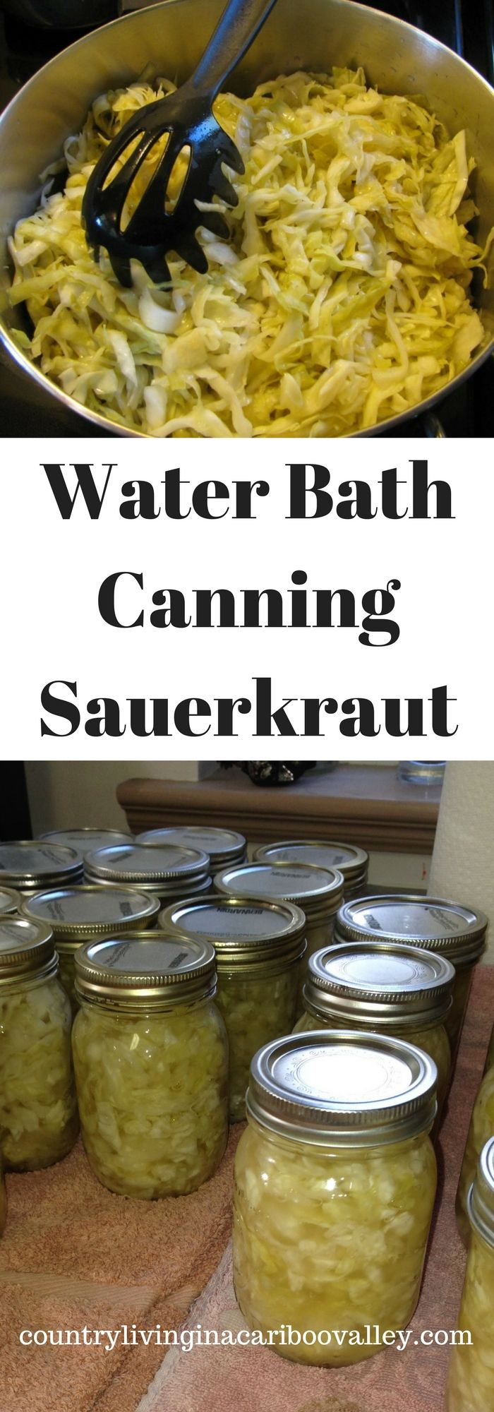 It's easy to home can Sauerkraut! Water bath canning is a great way to learn how to can.