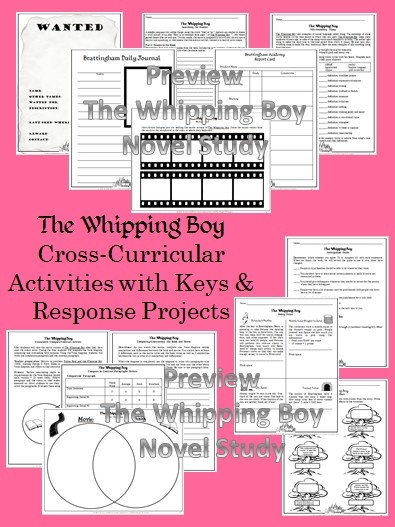 the whipping boy novel study pdf