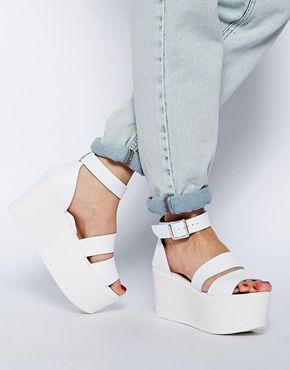 Image 4 ofASOS HARVEST TIME Leather Flatform Sandals
