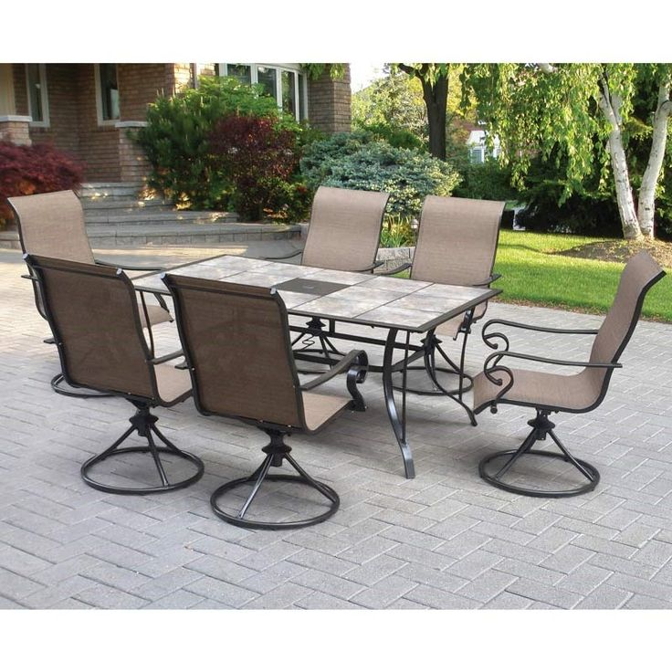 Lakeside Table With 6 Swivel Chairs Weekends Only Furniture And Mattress Patio Perfect