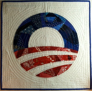 Obama campaign symbol quilt block