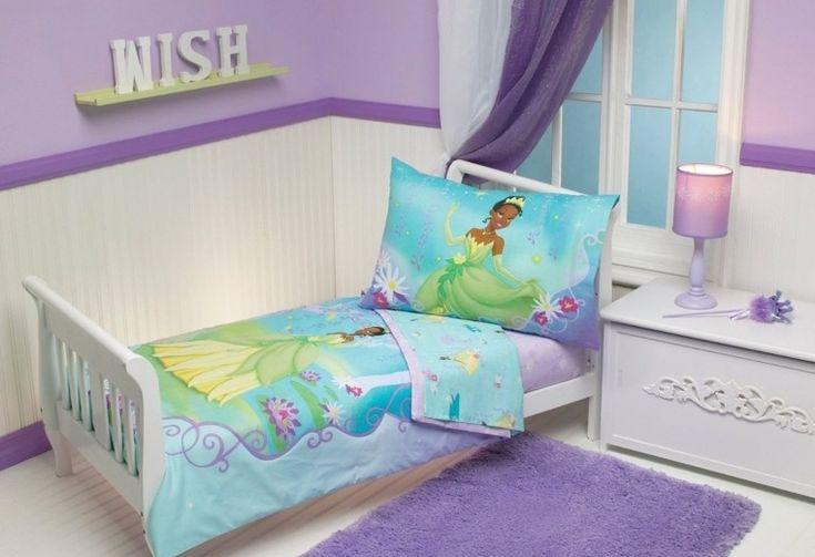 niñas color purpura princesa ropa cama ideas