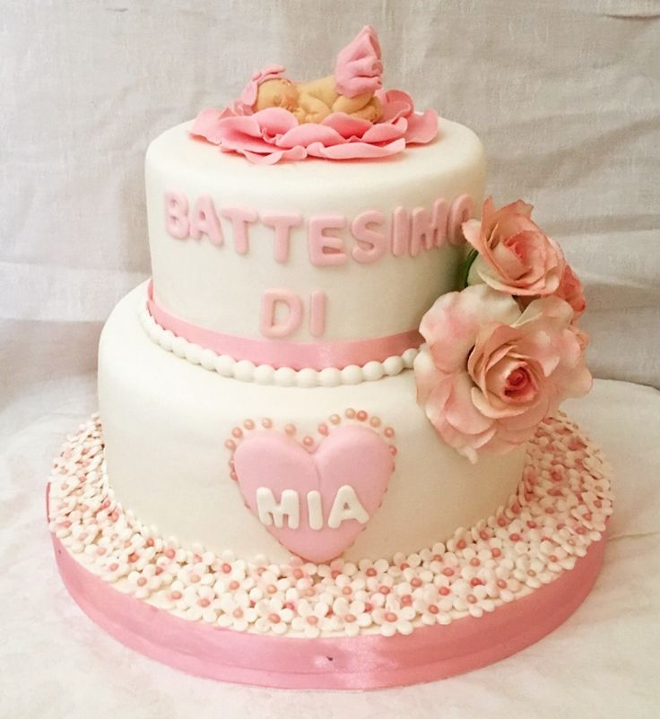 Battesimo bimba cake