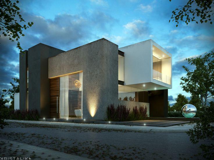Modern facade contemporary design kristalika arquitecture and interior - Calabria House Kristalika Arquitecture And Interior