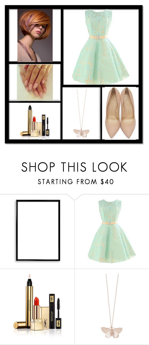 M/R by polina-komarova on Polyvore featuring мода, Charlotte Olympia, Alex Monroe, Yves Saint Laurent and Bomedo