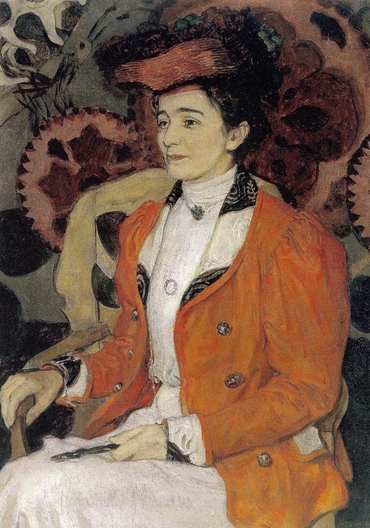 """Józef Mehoffer (Polish, 1869-1946) 1907 """"Portret Izy z Giełgudów Axentwiczowej"""""""