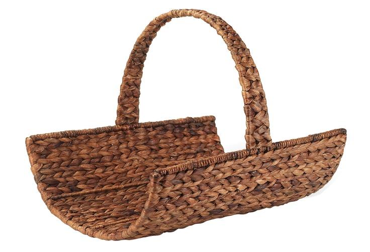 One Kings Lane - A Coastal Setting - Water Hyacinth Magazine Basket, Brown
