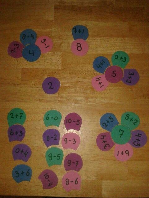 Rekenspelletjes rekentassen deel 1 :: Juf Christa - splitsbloemen en veel meer!