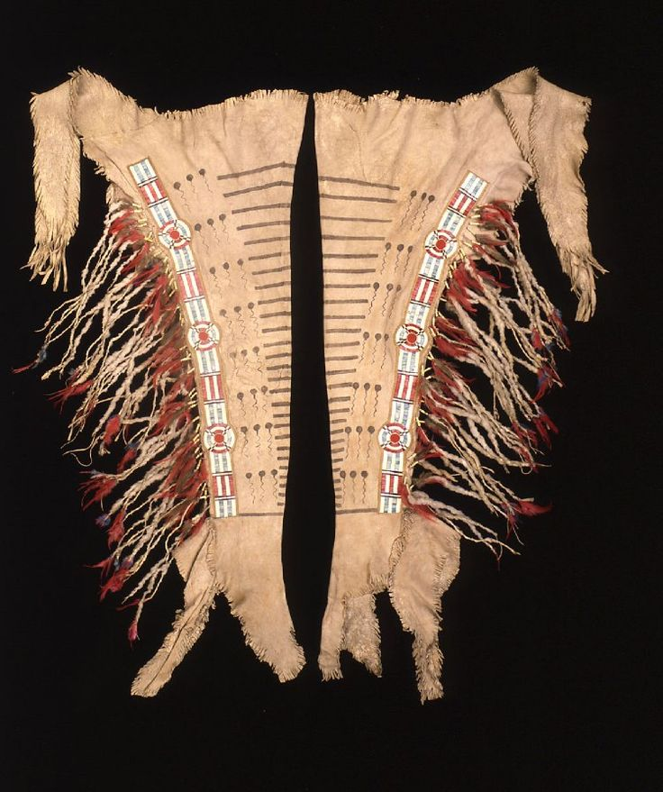 Leggings blackfoot british mus great things from for What crafts did the blackfoot tribe make