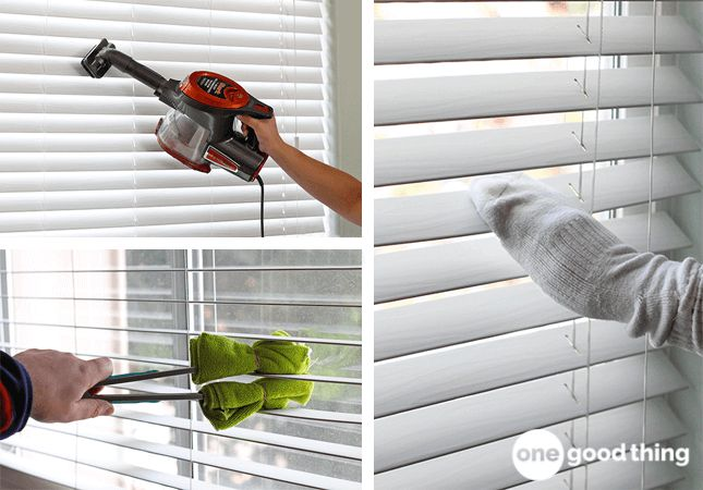 how to clean shades and blinds