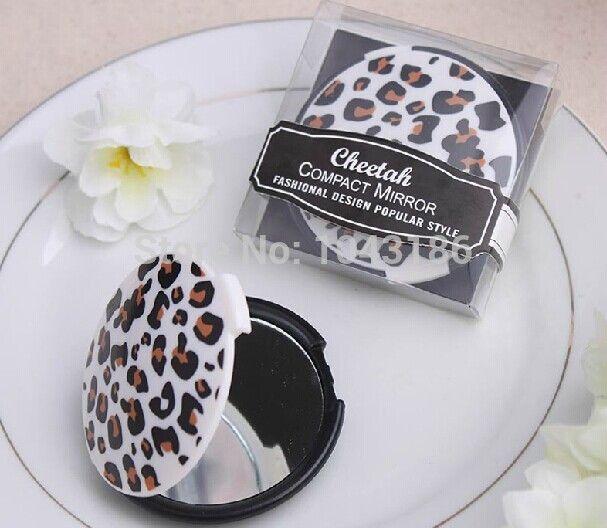 Свадьба пользу вкладыш леди зеркало гепард компактный зеркало свадьба свадебные душ ну вечеринку сувениры для гостей 100 pcs/lot