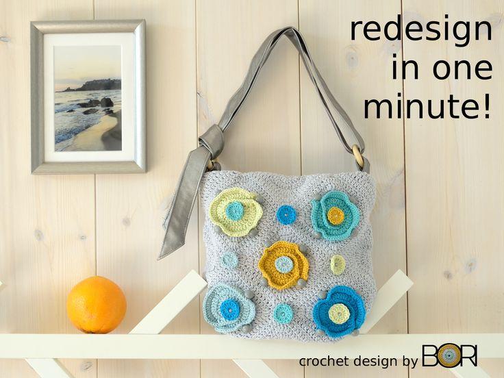Flower garden - flexible crochet bag design - from granny squares  https://www.etsy.com/shop/BORIsBAG