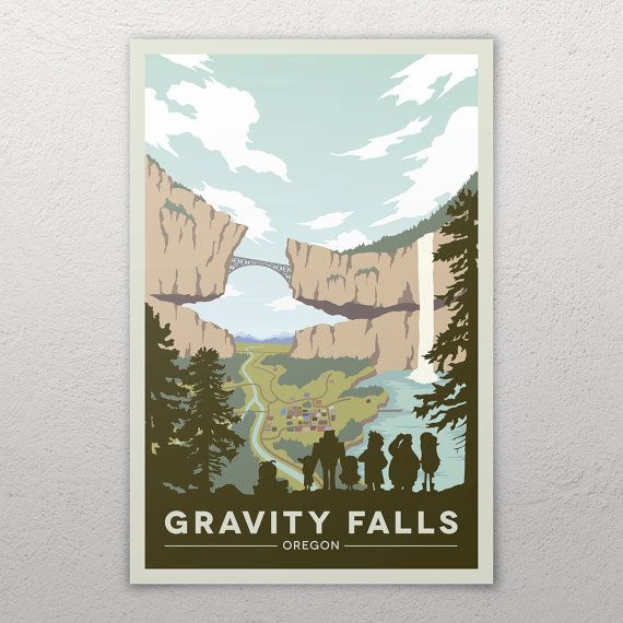 Gravity Falls National Park Poster by GreidientStudios on Etsy