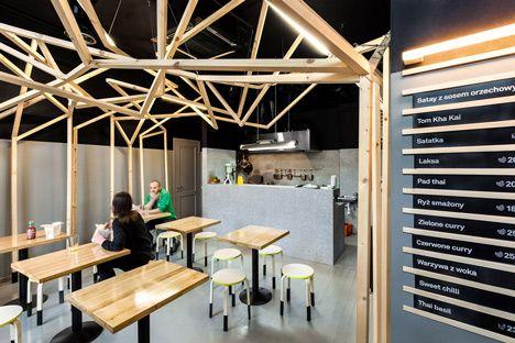 Tuk Tuk bar in Warsaw by Moko architects