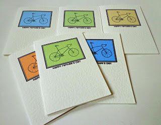 Father's Day cards in various colours