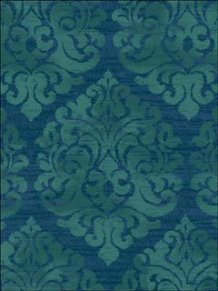 blue/green damask