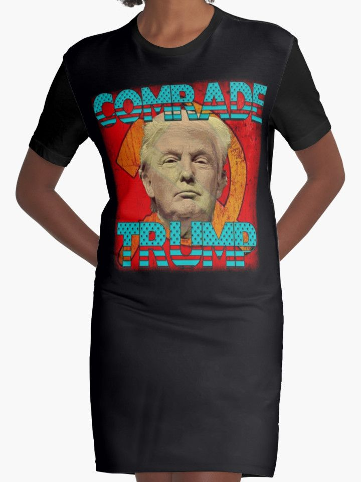 """""""COMRADE TRUMP"""" Womens Fitted T-Shirts by Paparaw 