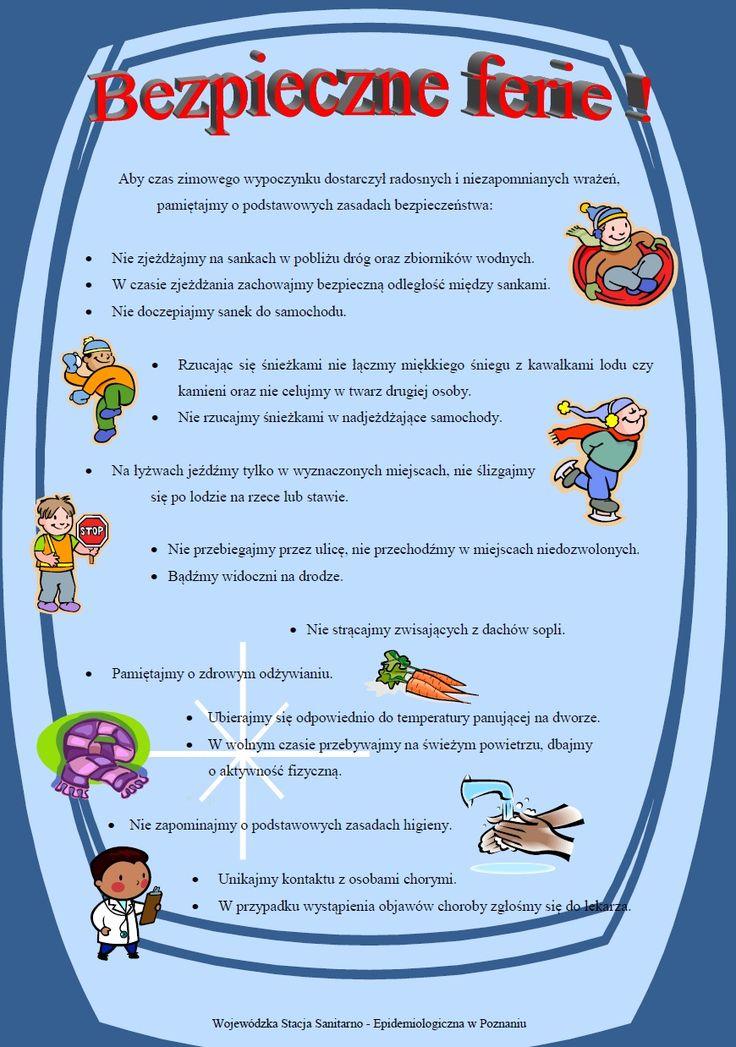 Dla zapominalskich przypominamy kilka zasad bezpieczeństwa, które pozwolą wam zdrowo i radośnie spędzić czas zabaw na świeżym powietrzu w trakcie trwających ferii zimowych. !!!!!!!!!!!!!! Nie rzuca…