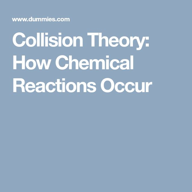 Collision Theory: How Chemical Reactions Occur