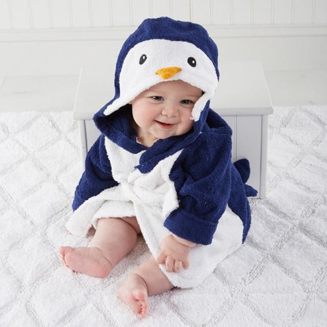 Retail Baby Animal Bathrobe For Boys And Girls Hooded Towel Beach Children  Bathrobes Kids Robes Children Cartoon Pajamas YUPAO a7acb46b9
