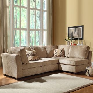 Tribecca Home Barnsley Collection Brown Beige Chenille 4