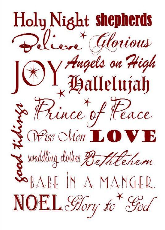 Free Christmas art to print and frame