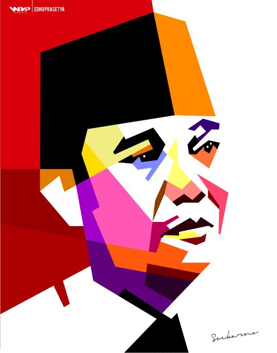 Ir. Soekarno in WPAP by Edho by edhoartwork on DeviantArt