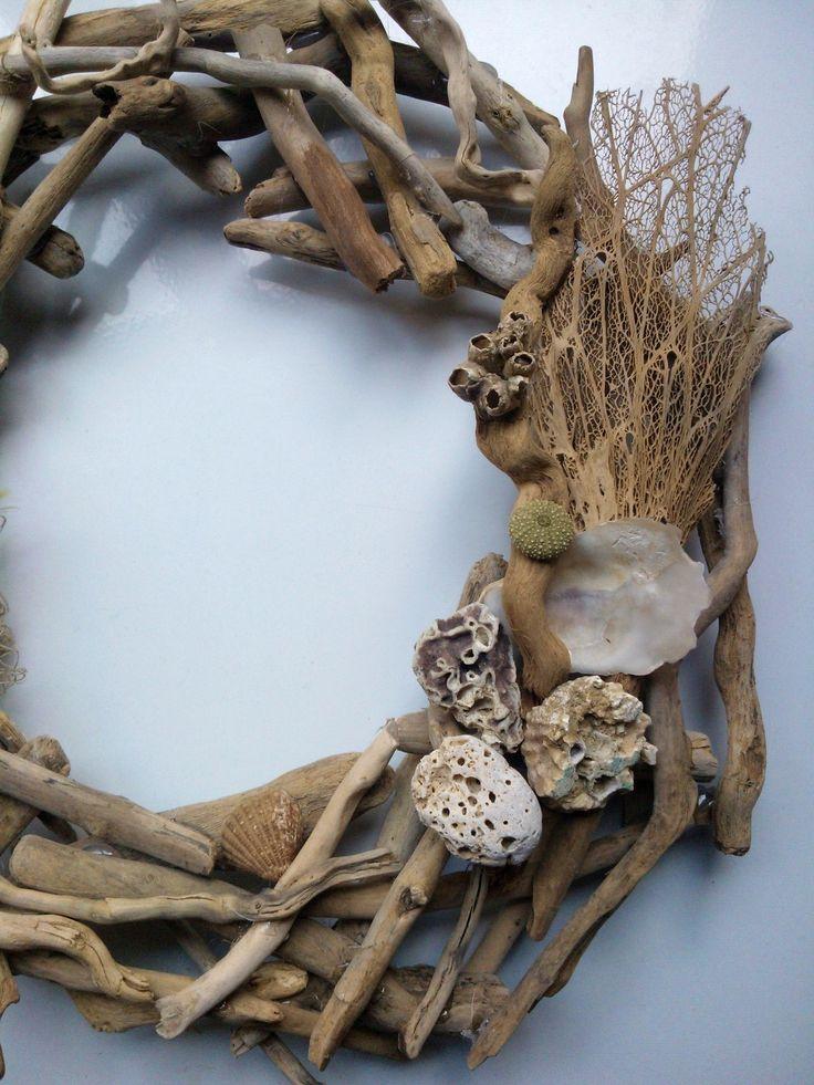 #wreath #sea #navy #shells #summer #handmade