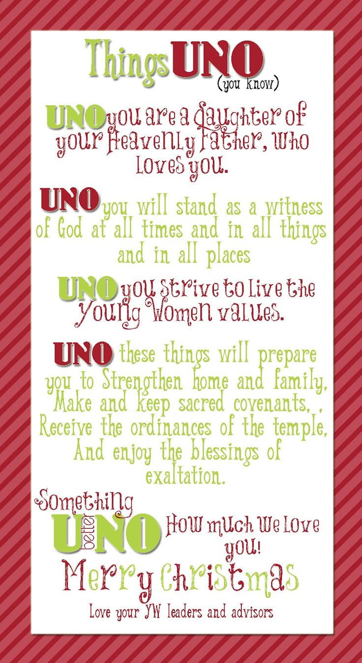 uno game christmas gift by young women inspiration yw things uno you know a great reminder and value based gift for the girls