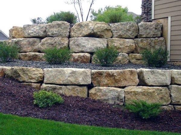 Top 40 Best Stone Edging Ideas Exterior Landscaping Designs Landscaping Retaining Walls Landscape Design Landscape Edging