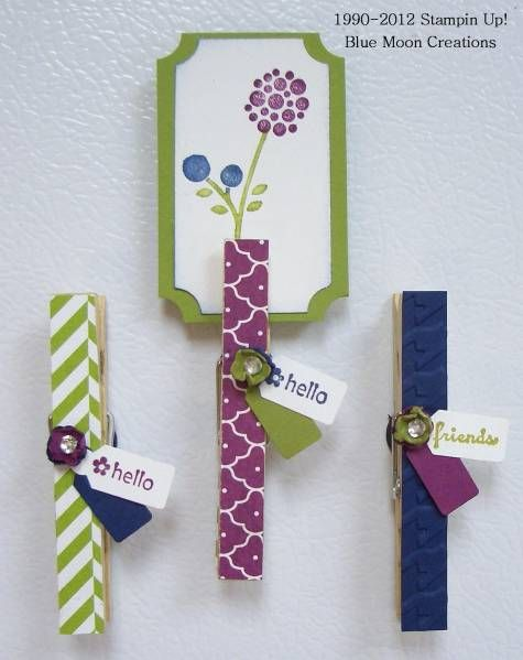 Altered Clothespins by Bluemoon - Cards and Paper Crafts at Splitcoaststampers