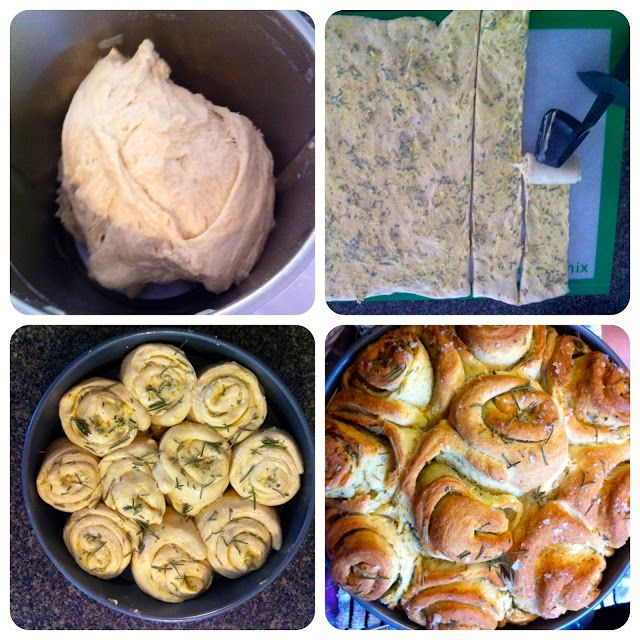 Twirly wirly garlic and herb bread (home-made of course)