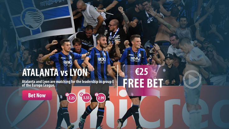 #Atalanta vs #Lyon  Place you bet, get your Free Bet !  #uefa #uel #bet #parasino  http://www.parasino16.com/en/promotions/sportswelcome