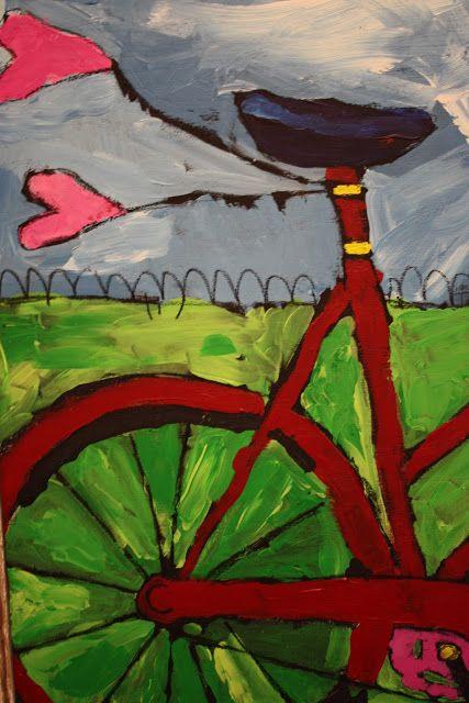 How to make this painting...Jenni Horne : Bike JOY