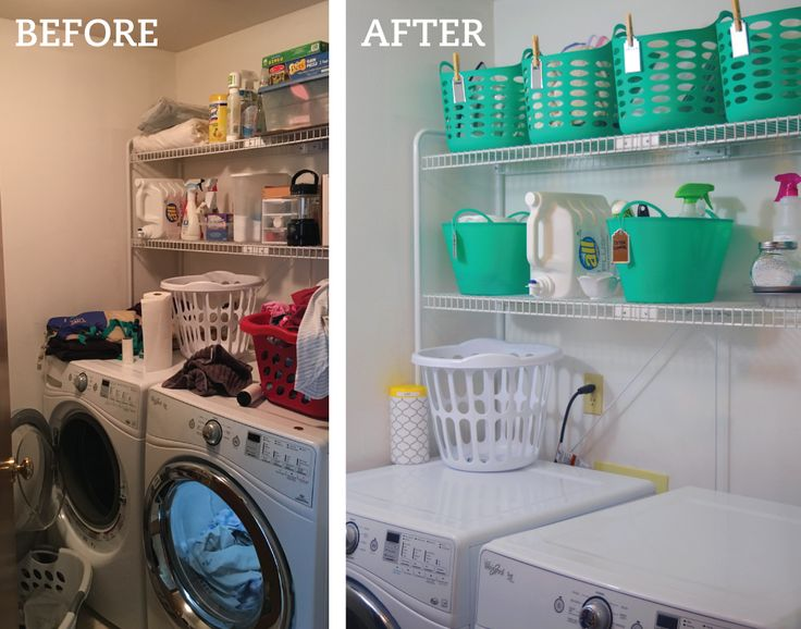 Before and After Dollar Laundry Room Makeover. Nikki Jayne Papery