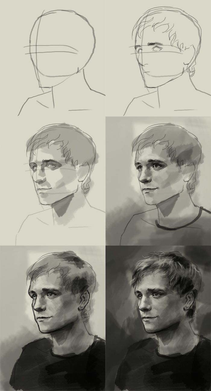 How to draw Peeta Mellark | art lesson online