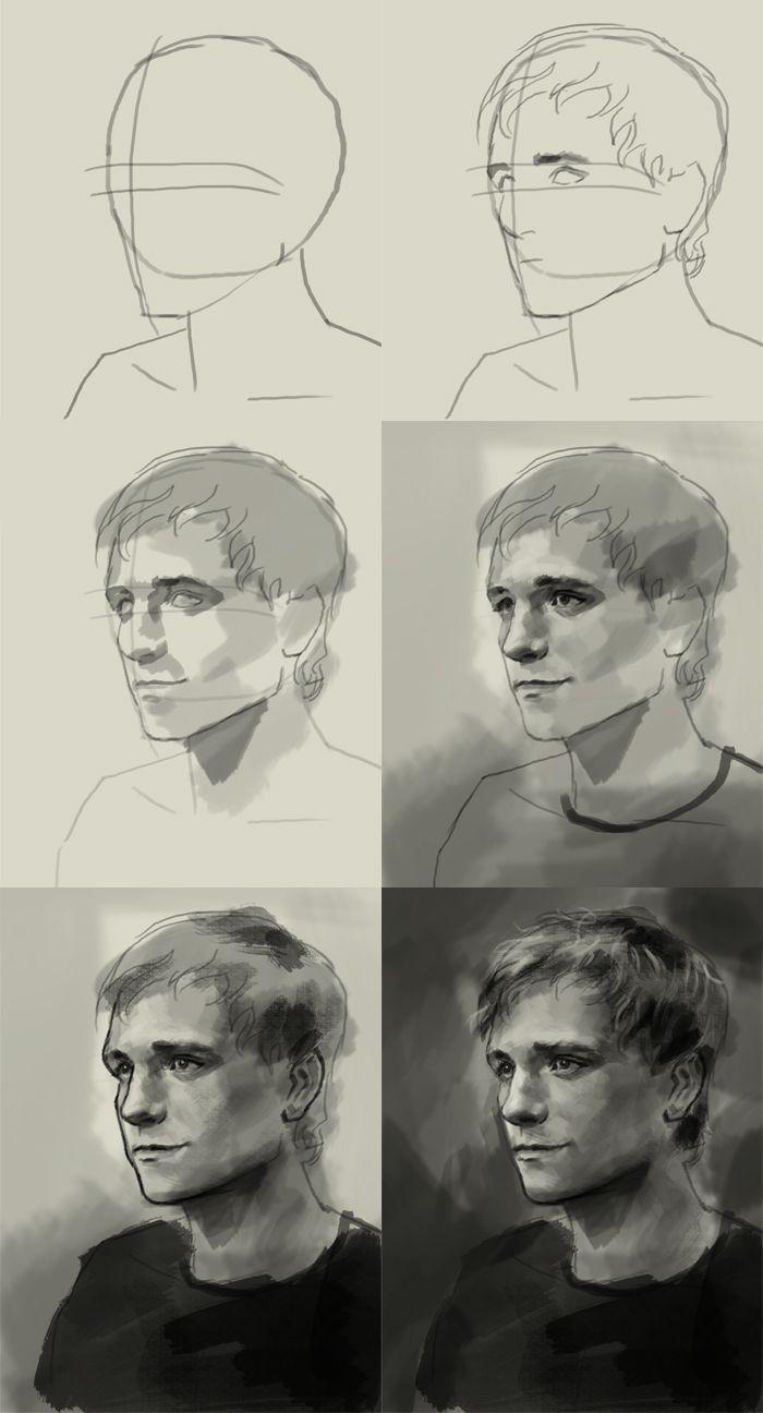 How to draw Peeta Mellark | art lesson online