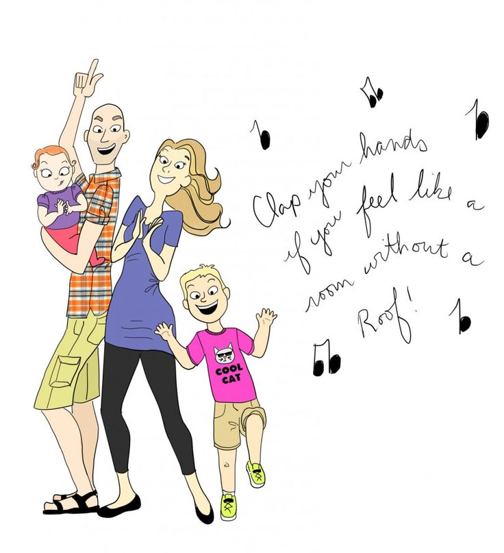 Our family dances in the kitchen to Happy by Pharrell.